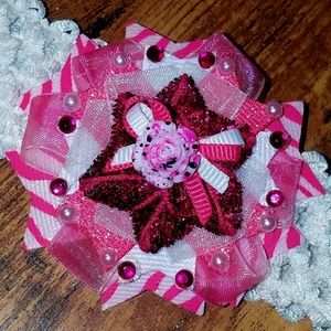 Other - 2/$20 Hot pink baby bows